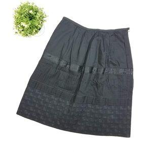 Catherine Malandrino Black A Line Textured Skirt